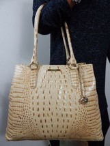 BRAHMIN JOAN CHAMPAGNE MELBOURNE LEATHER LARGE TOTE SHOULDER BAG W/regis... - $187.11
