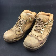Timberland US Mens 6.5 Womens 8 Hiker Boots Leather Wheat Nubuck Rhinestones - $24.65