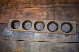 Wooden Sugar Mold   Candle Holder   Primitive Rustic Succulent Planter   - $55.00