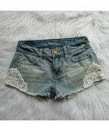 American Eagle Outfitters Shorts Size 00 Frayed Distressed Raw Hem Light... - $8.59
