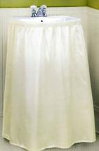 FABRIC DOBBY DOT SELF STICK SINK SKIRT - BONE BEIGE - $12.19