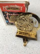 Mary Engelbreit Believe Santa Christmas Stocking Hanger Holder Brass Kur... - $46.64