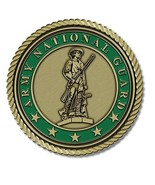 Army National Guard Medallion for Box Cremation Urn/Flag Case - 3 Inch D... - $69.99