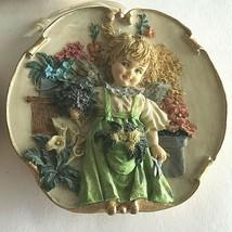 Two VTG Genuine KeyPoint Porcelain/Ceramic Boy Girl Figurine Wall Hangin... - $29.45