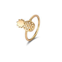 Jisensp Unique Adjustable Anillos Cute Pineapple Rings Gold Color Knuckl... - $7.99