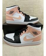 Nike Air Jordan 1 Mid Crimson SIZE 12.5 Tint Arctic Orange White BlackM... - $168.27