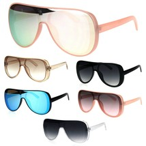 Retro Plastic Racer Shield Hip Hop Sunglasses - $9.95