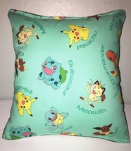 Pokemon Pillow, HANDMADE in USA, Pikachu, Anime, Manga, Teal, Game,  Pok... - $9.99
