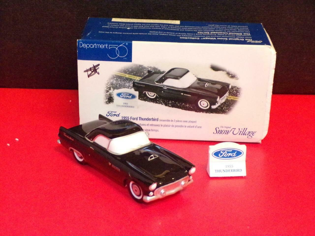 "Primary image for Department 56 snow village ""1955 Ford Thunderbird""-BLACK - MINT IN BOX"