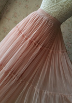 BLUSH Tiered Midi Skirt Blush High Waisted Tiered Tulle Skirt Plus Size image 10