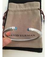 Pre Owned David Yurman 5mm Classic Cable Bracelet Topaz & Diamonds Medium - $275.00