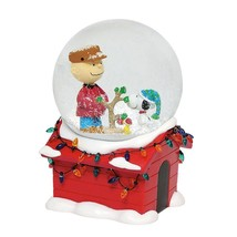 """Peanuts Charlie Brown Snoopy Christmas Musical 7"""" Water Globe NEW BOXED - $62.88"""