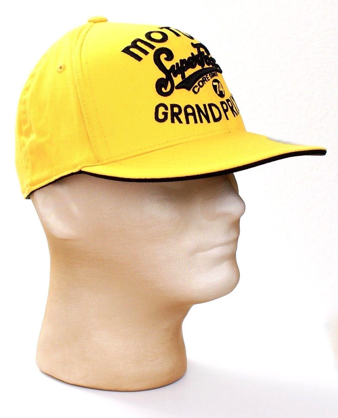 Fox Moto X Super Fox Grand Prix Yellow Cap Hat Adult Fitted 6 7/8 - 7 1/4 NWT