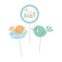 "Hello Baby Boy 11 3/4"" x 9"" Centerpiece Stick, Case of 18 - £24.34 GBP"