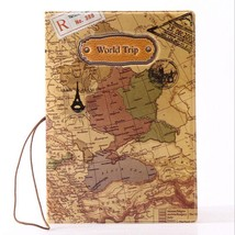 World Map Passport Cover Card Holder Travel Case Wallet Organizer Id Doc... - $4.49