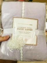 Pottery Barn Teen Chambray Tassel Duvet Cover Set Lavender Twin & Standa... - $118.00