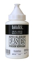 Liquitex acrylic paints Liquitex Basics Titanium White B-065 400ml - $25.15