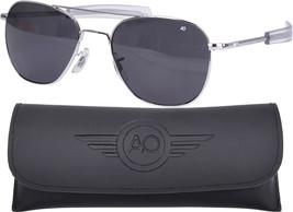 AO Eyewear Polarized Chrome 55mm Air Force Pilots Sunglasses Aviators - $140.00