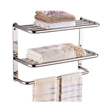 LUANT 24 Inch Bathroom Shelf 3-Tier Wall Mounting Rack with Towel Bars - $74.27