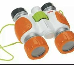 Fisher Price Kid Tough Binoculaurs Strap Orange White Toy Pretend Safari - $15.83
