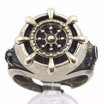 925 Silber Ring, Brüniert und Matt, Ruder, Seil Nautica, Taucher image 1