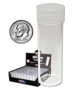 Coin Collecting Supplies For Round Dime Coin storage tubes (Qty=10 Tubes) - £5.44 GBP