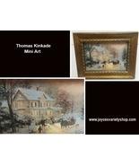 Hallmark 2000 Thomas Kinkade Miniature Framed Art Home For The Holidays - $9.99