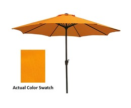 9' Outdoor Patio Market Umbrella with Hand Crank and Tilt - Tangerine Ye... - $95.94 CAD