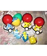 Pokemon Pokeballs & action figures bundle 11 pieces  - $12.00
