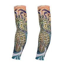 PANDA SUPERSTORE 1-Pair Seahorse Fake Tattoo Sun Sleeves Body Art Arm Covers for