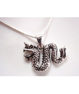 Dragon Pendant Chinese Style 925 Sterling Silver Corona Sun Jewelry - $7.04