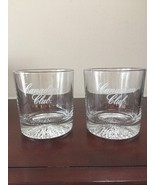 Vintage Canadian Club Low Ball Old Fashioned 2 Whiskey Scotch Glasses  - $23.03