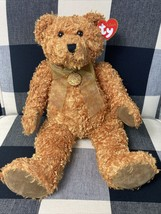 """NWT-15"""" TY Classic """"Aubrey"""" Plush Bear Gold Bow Collectible Stuffed - $7.91"""