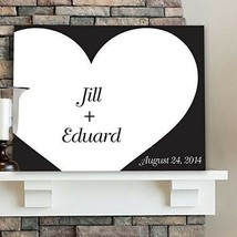 "Engraved Shadow of Love Signature Canvas 18"" x 24"" Wedding Gifts Home Decor - $59.88"