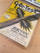 Vintage Globemaster Glo-Test electrical testing screwdriver in original package image 6