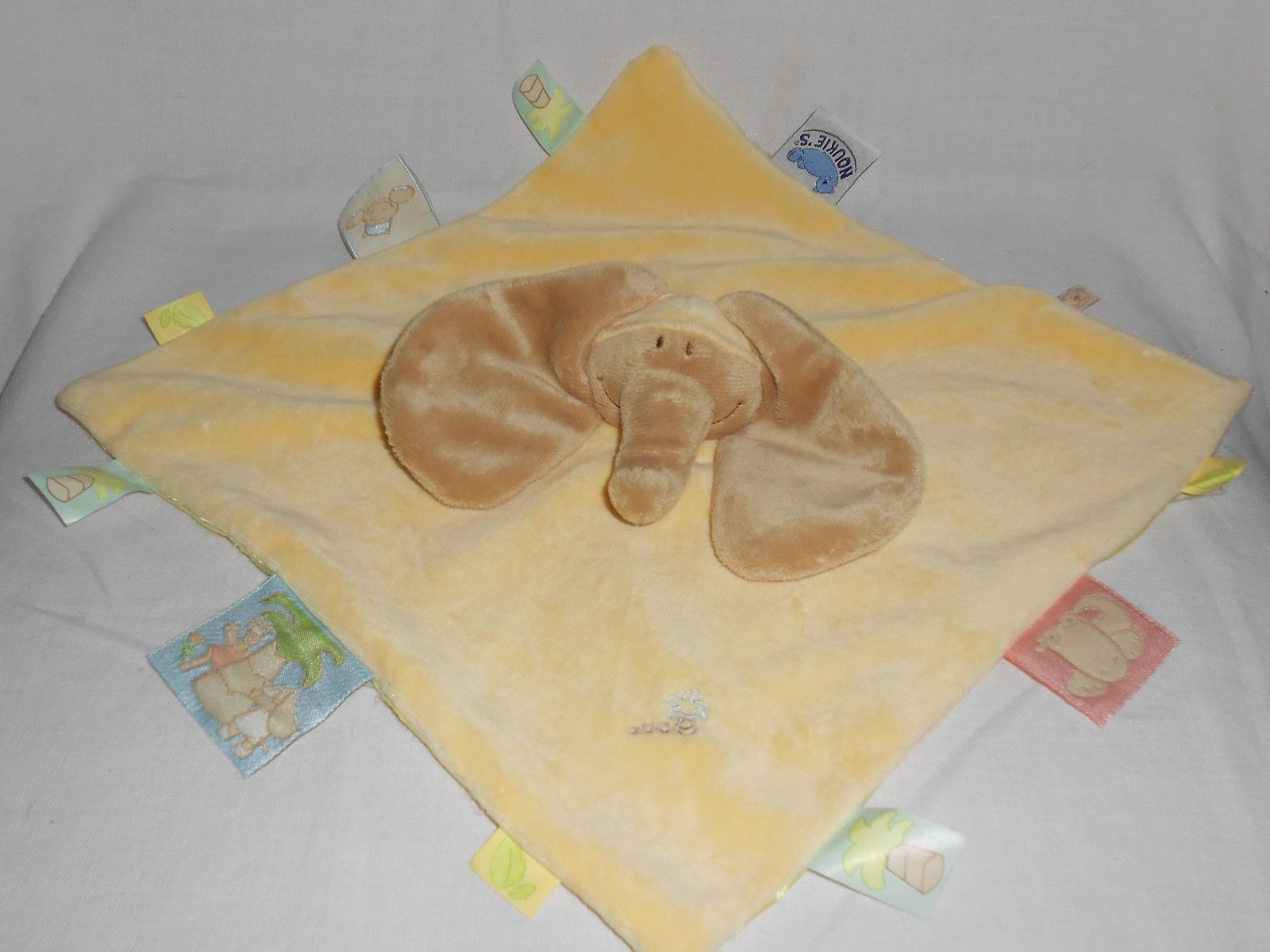 Primary image for Noukies Noukie's Elephant Baby Yellow Palm Tree Security Blanket Lovey Puppet