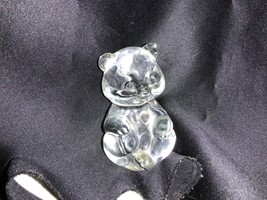 Fenton Art Glass Crystal April Heart Birthstone Bear Figurine - $20.00