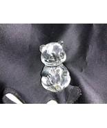 Fenton Art Glass Crystal April Heart Birthstone Bear Figurine - $20.00