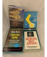 Self-Help Audio Cassette Lot of 4 Meditating Self-Esteem Aging Harmony - $19.95