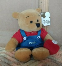 The Disney Store Pooh in Overalls w/Candy plush toy - $14.99
