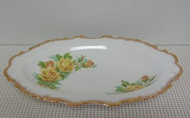 "Rare YELLOW TEA ROSE Royal Albert 10"" SMALL OVAL SERVING DISH Bone China... - $38.79"