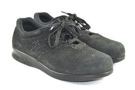 SAS Free Time Women's Black Suede Comfort Lace up Orthopedic Shoes  7.5 WW  - $32.08