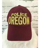 Oregon Police Unisex One Sz Hat Maroon Red Strapback Adjustable Cotton B... - $13.85