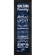 """Personalized University of Akron """"Family Cheer"""" 24 x 8 Framed Print - $39.95"""