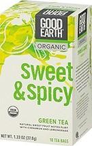 Good Earth Tea Green Swt & Spcy Org - $8.57