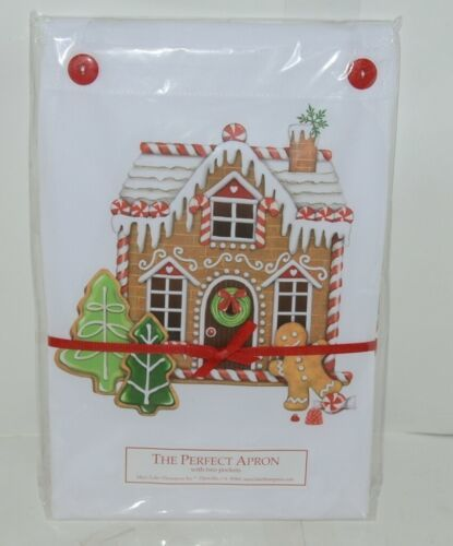 The Perfect Apron A389 GingerBread House Two Pockets 100 Percent Cotton