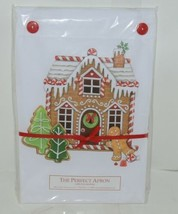 The Perfect Apron A389 GingerBread House Two Pockets 100 Percent Cotton image 1