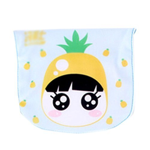 2 Lovely Pineapple Baby Cotton Gauze Towel Wipe Sweat Absorbent Cloth Mat Towels
