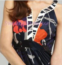 $298 Elie Tahari Ivy Spring Navy Floral Viscose Jersey Dress S - $140.25