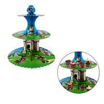 Mickey Mouse 3 Niveaux Cupcake Support Tour Anniversaire Mariage Table - $9.46
